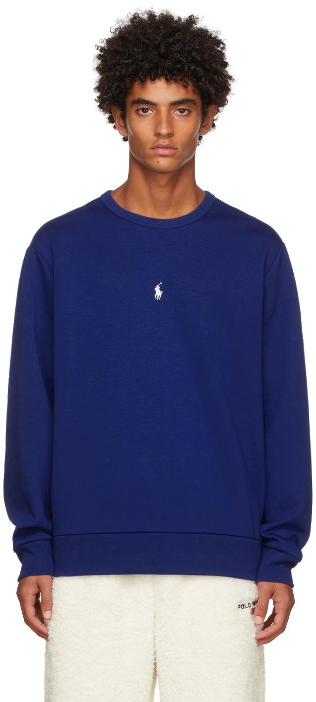 Photo: Polo Ralph Lauren Blue Double Knit Sweatshirt