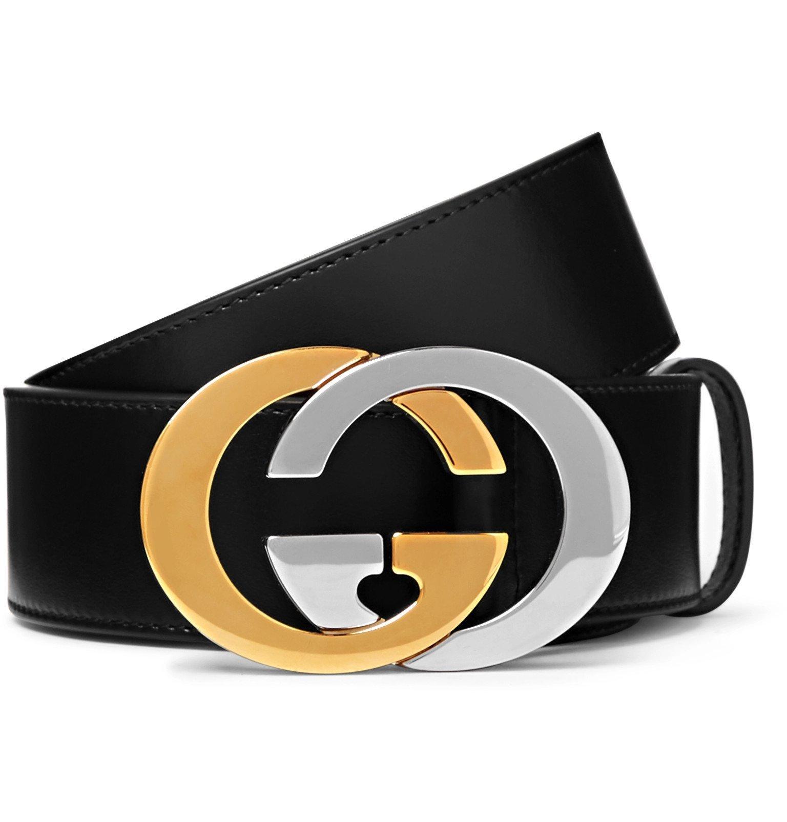 Photo: Gucci - 4cm Black Full-Grain Leather Belt - Black
