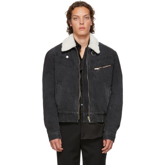 Photo: Givenchy Grey Denim Bomber Jacket