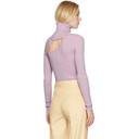 Nina Ricci Purple Cut-Out Turtleneck
