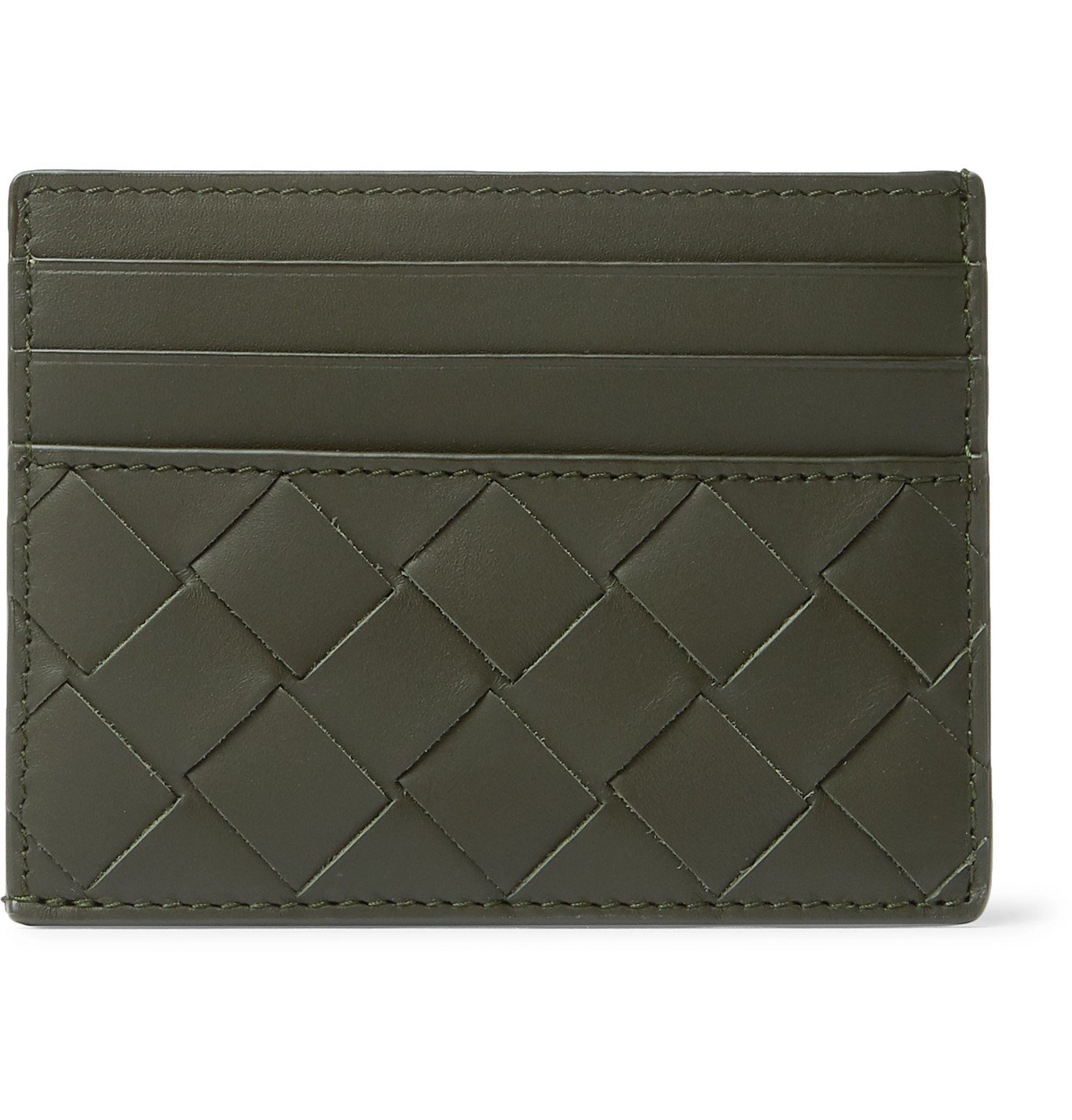 Photo: Bottega Veneta - Intrecciato Leather Cardholder - Green