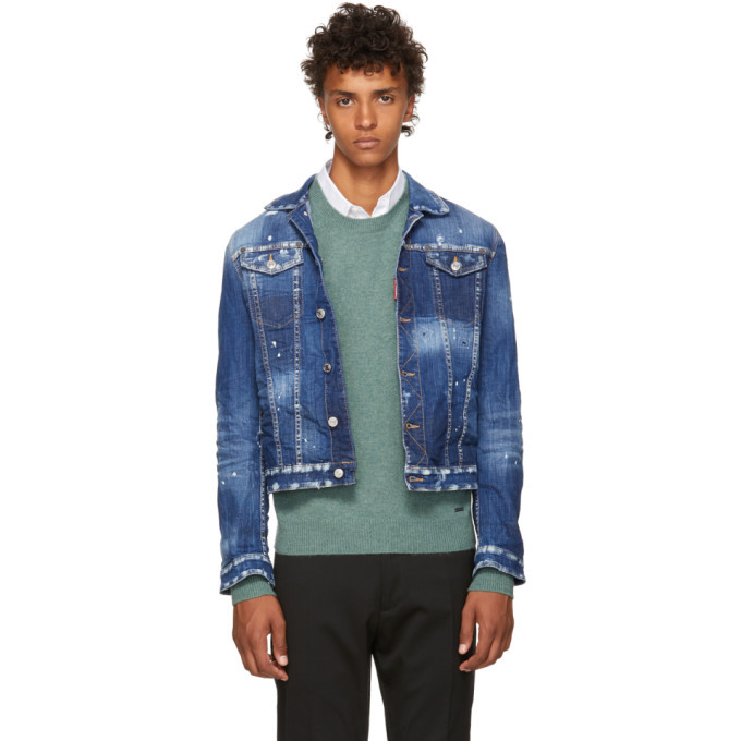 Photo: Dsquared2 Blue Light Simple Denim Jacket