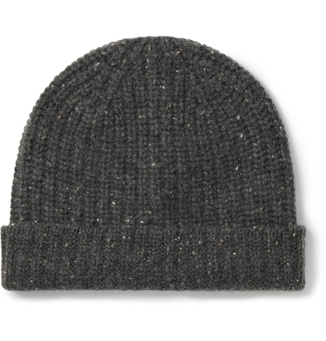 Photo: Alex Mill - Ribbed Mélange Cashmere Beanie - Gray
