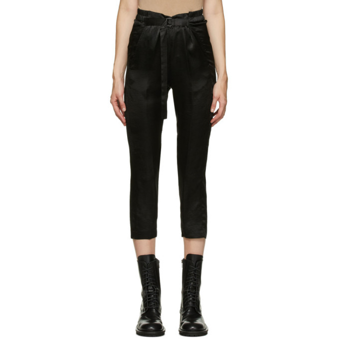 Photo: Ann Demeulemeester Black Lambeth Belted Trousers