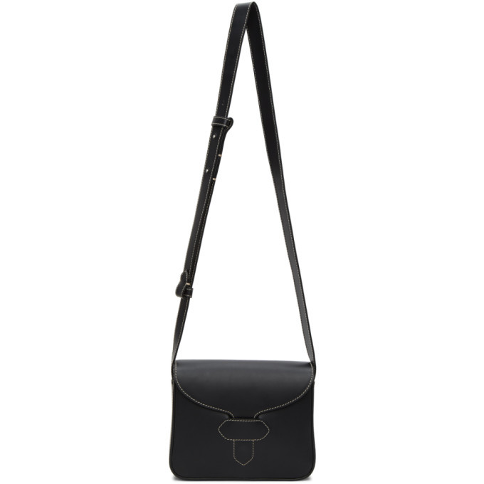 Photo: Maison Margiela Black Leather Stitch Small Messenger Bag