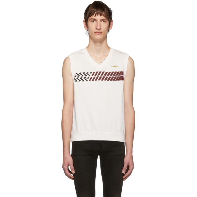 Photo: Phipps White Stripe Sleeveless T-Shirt
