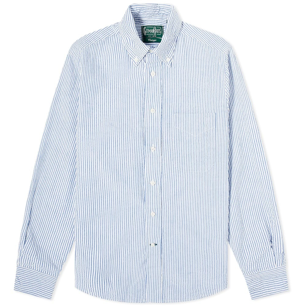 Photo: Gitman Vintage Button Down Seersucker Shirt