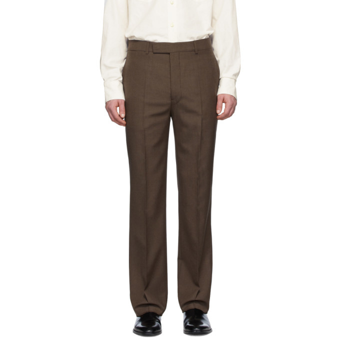 Photo: Lemaire Brown Wool Suit Trousers