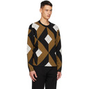 Dunhill Tan and Black Wool Engine Turn Sweater