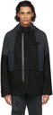 Sacai Black & Navy Melton Wool Jacket
