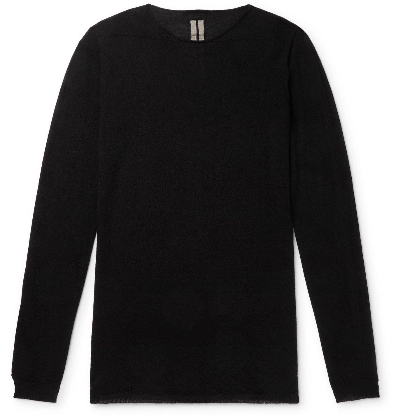 Photo: RICK OWENS - Cashmere Sweater - Black