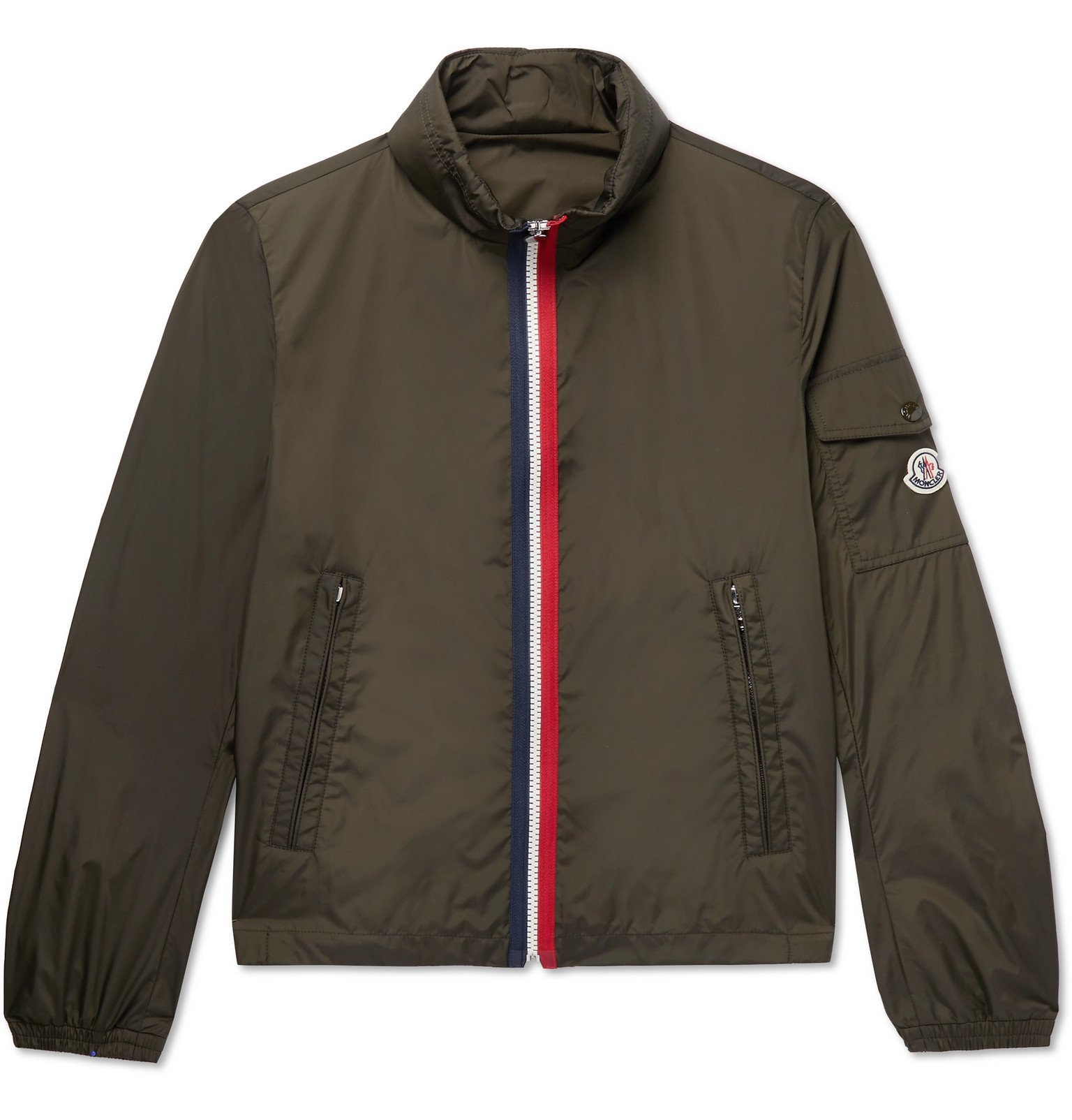 Photo: Moncler - Striped Shell Bomber Jacket - Green