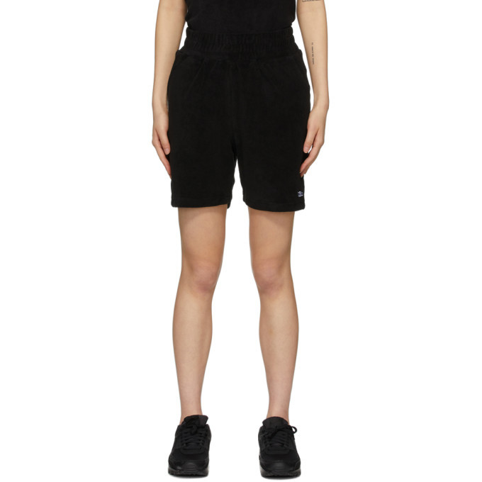 Photo: 032c Black Terry Logo Embroidery Shorts