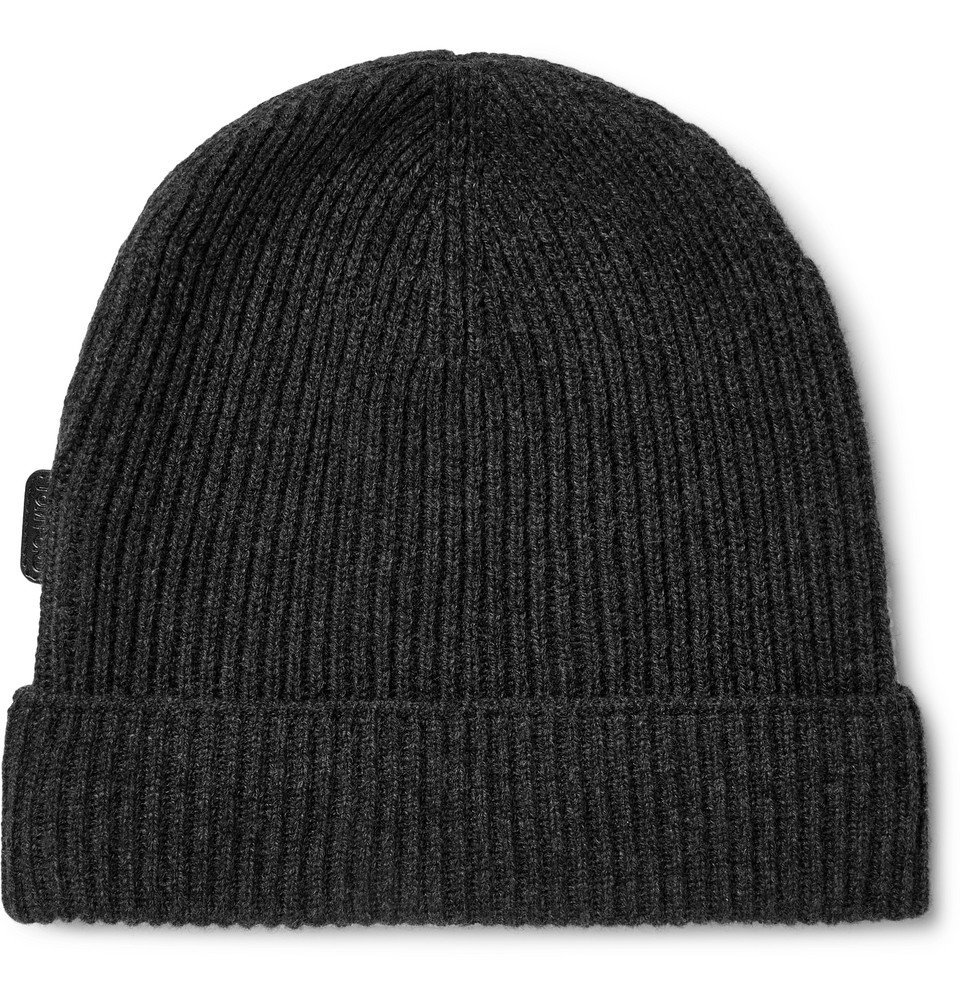 Photo: TOM FORD - Ribbed Cashmere Beanie - Gray