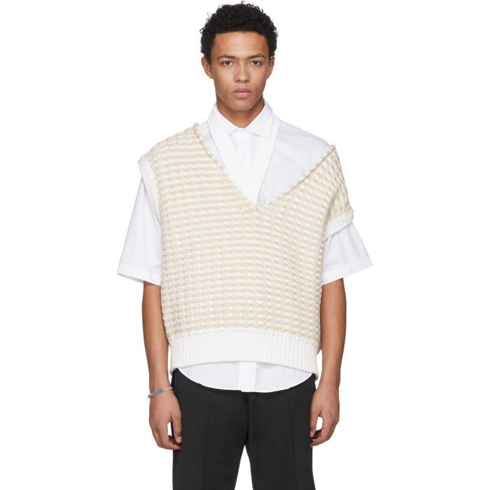 Photo: Raf Simons White Cropped Knit Vest