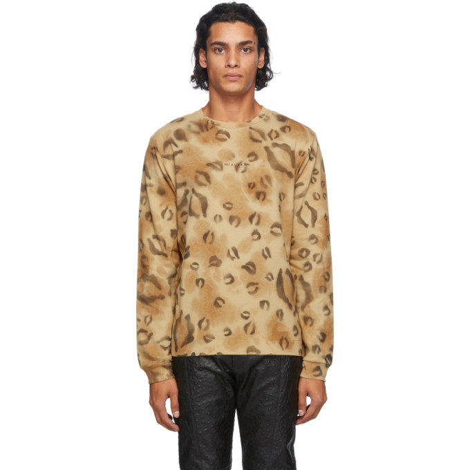 Photo: 1017 ALYX 9SM Brown Leopard Long Sleeve T-Shirt
