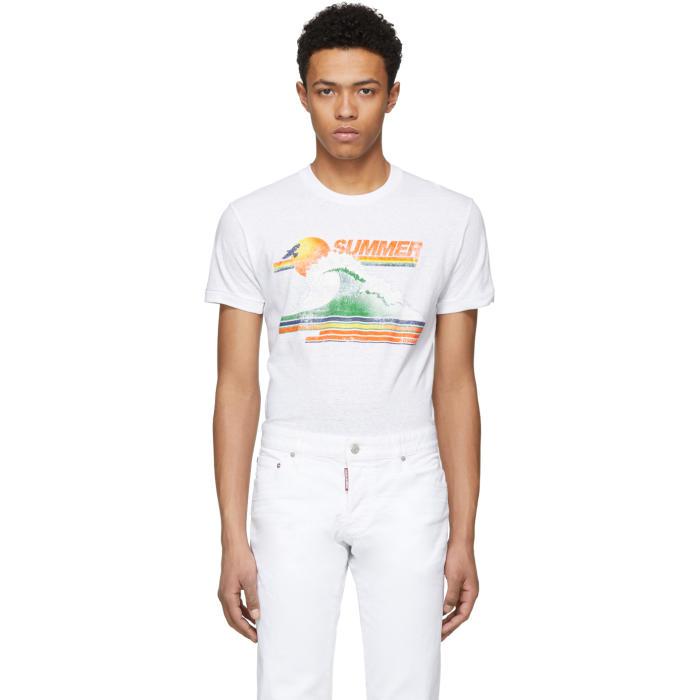 Photo: Dsquared2 White Summer Chic Dan T-Shirt