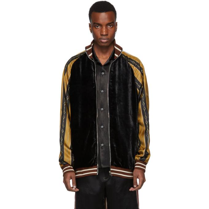 Photo: Gucci Black Horsebit Track Jacket
