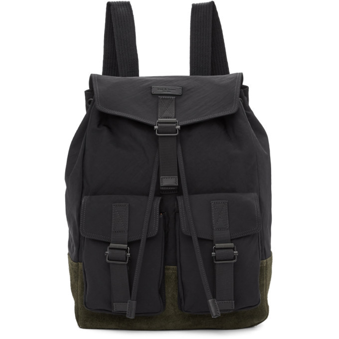 Photo: rag and bone Black Fleet Backpack