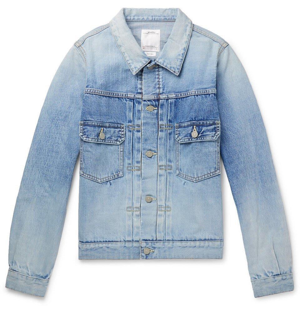Photo: visvim - Social Sculpture 101 Distressed Denim Jacket - Light blue