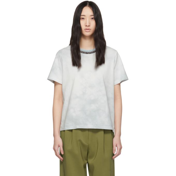 3.1 Phillip Lim Blue Tie-Dye T-Shirt