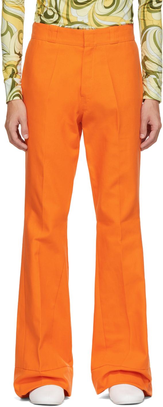 Photo: Raf Simons Orange Twill Flared Trousers