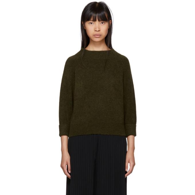 3.1 Phillip Lim Green Lofty Mock Neck Sweater