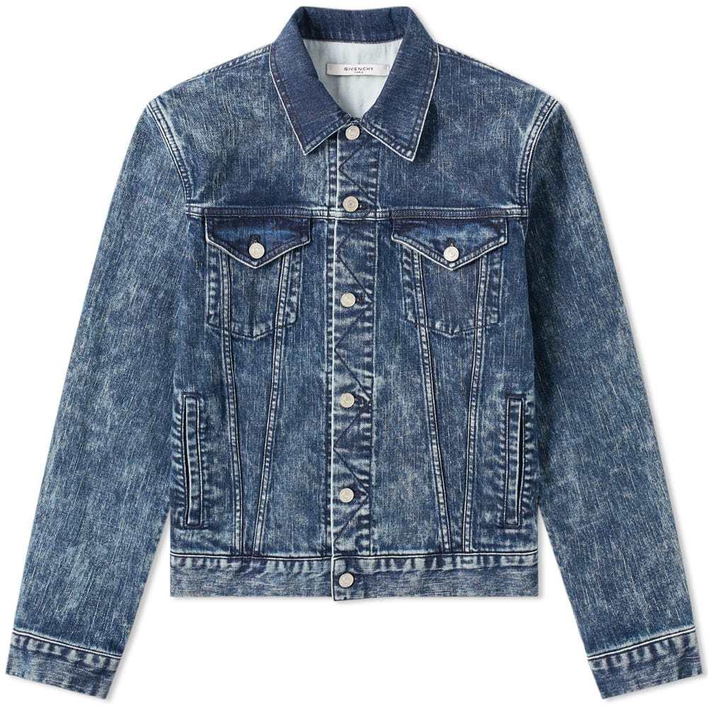 Photo: Givenchy Logo Denim Jacket Blue