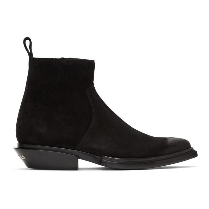 Photo: Balenciaga Black Santiag Boots