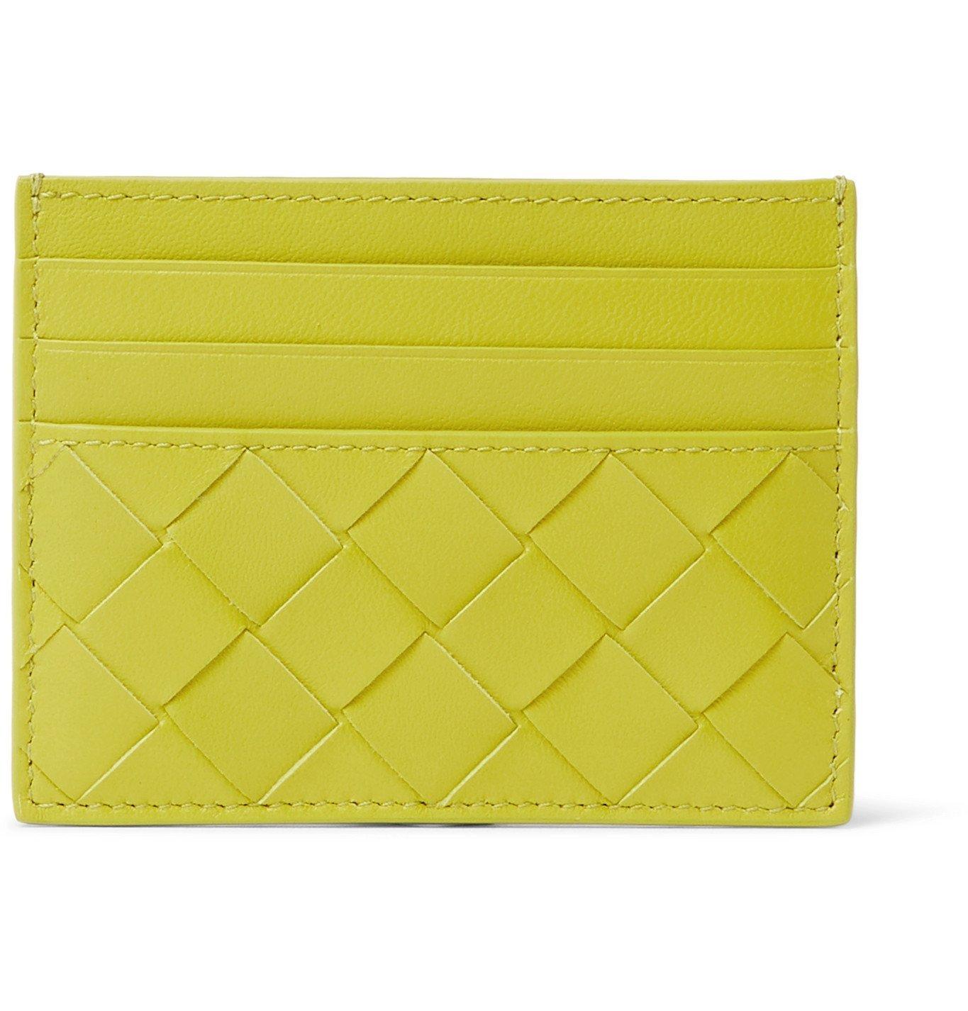Photo: Bottega Veneta - Intrecciato and Smooth Leather Cardholder - Green