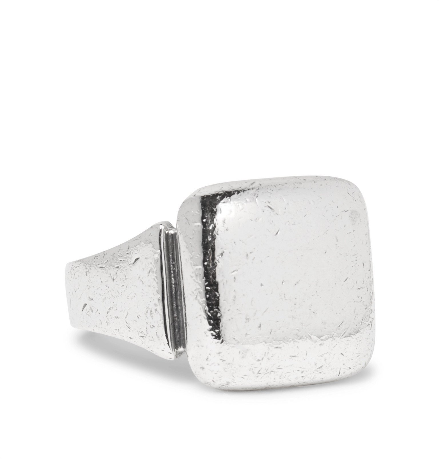 Bottega Veneta - Textured Sterling Silver Ring - Silver