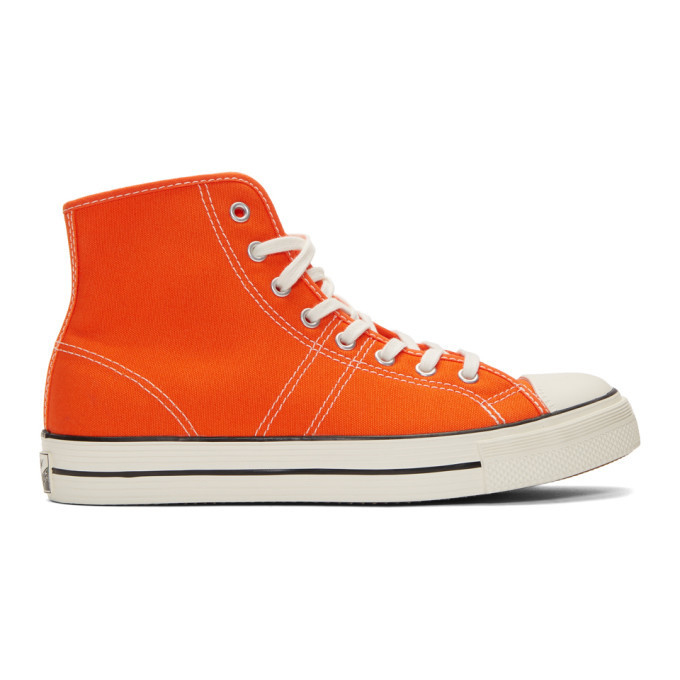 Photo: Converse Orange Lucky Star High Top Sneakers