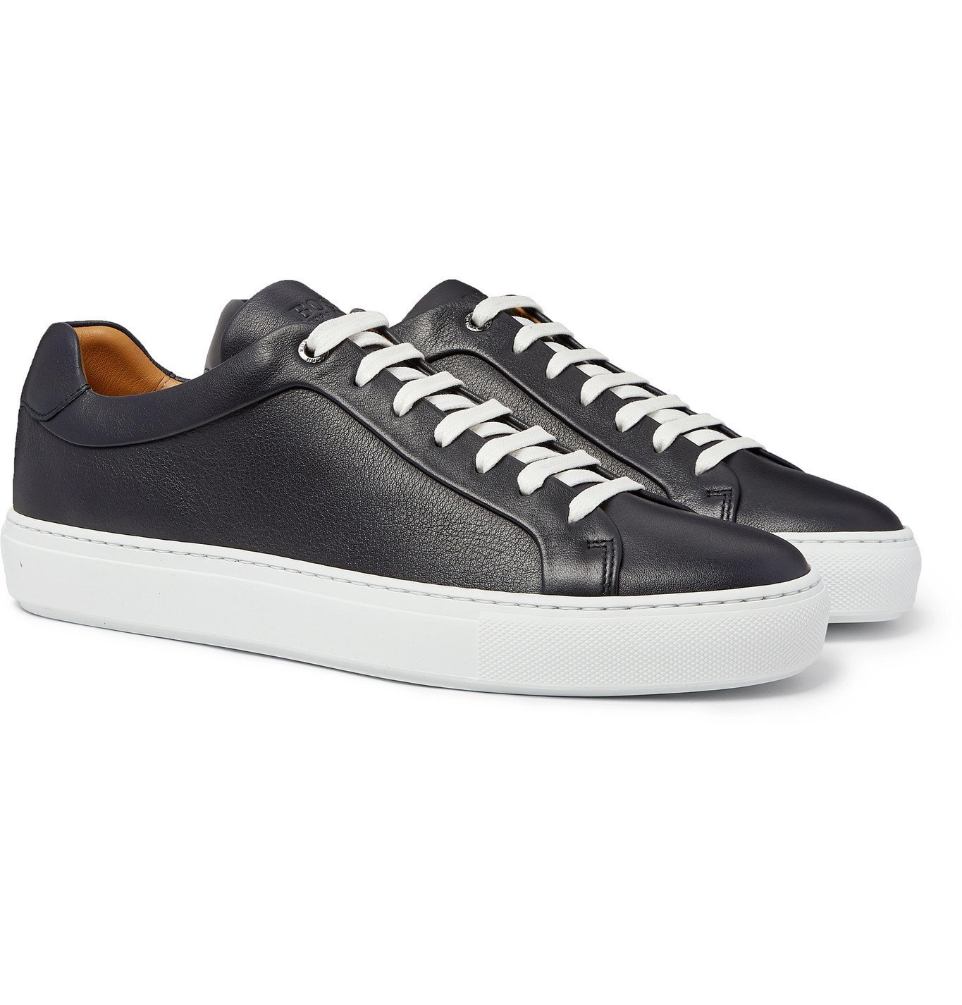 Photo: Hugo Boss - Full-Grain Leather Sneakers - Blue