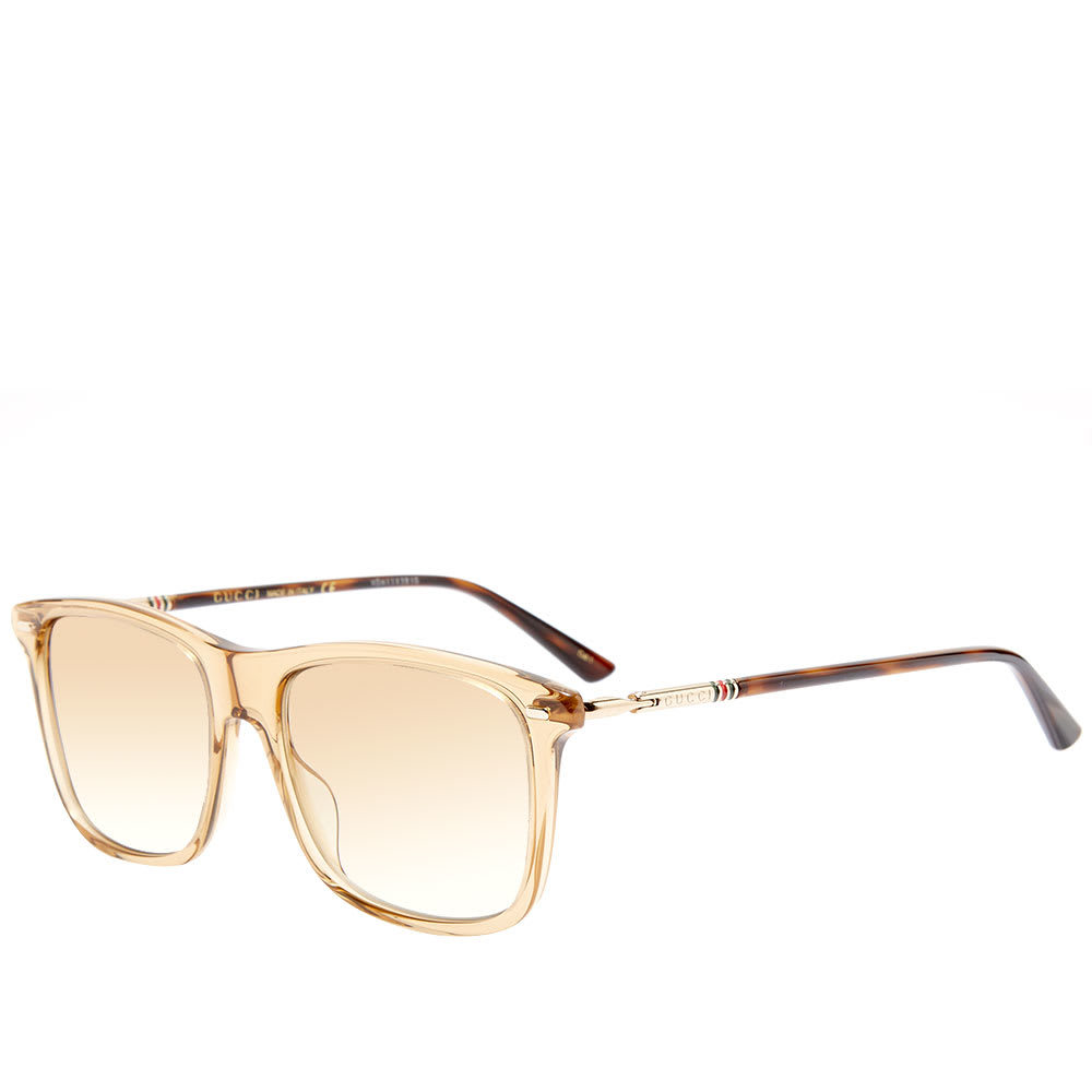 Photo: Gucci Cylindrical Web Square Frame Sunglasses