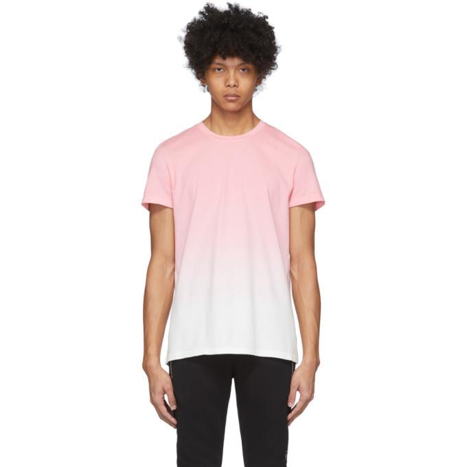 Photo: Balmain Pink and White Gradient T-Shirt