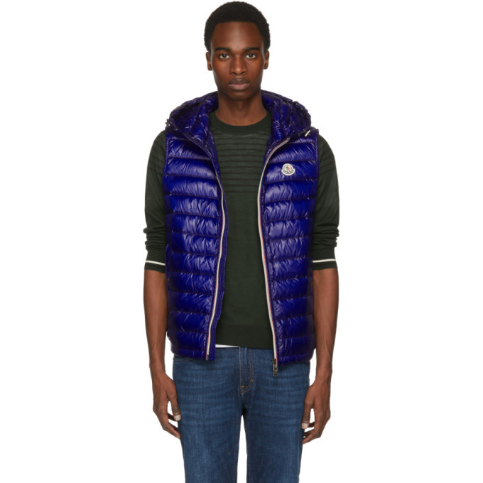 Photo: Moncler Blue Down Gien Vest
