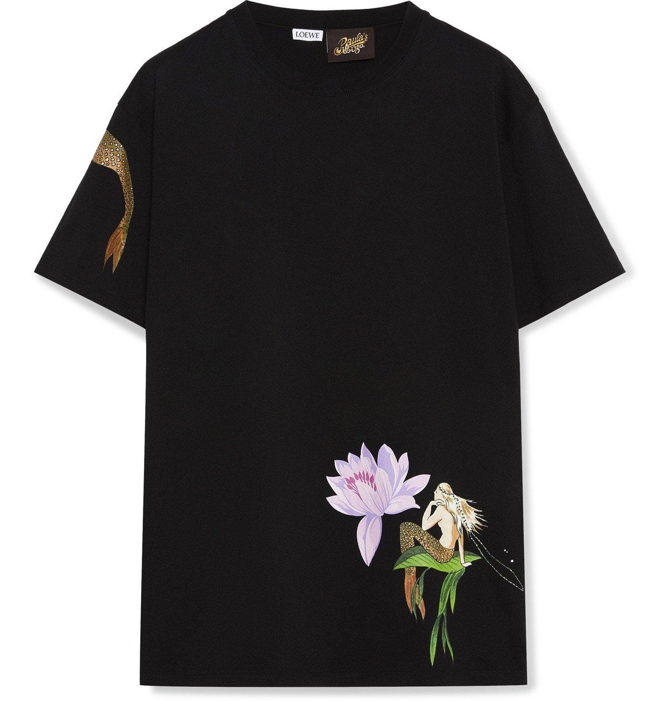 Photo: Loewe - Paula's Ibiza Printed Cotton-Jersey T-Shirt - Black