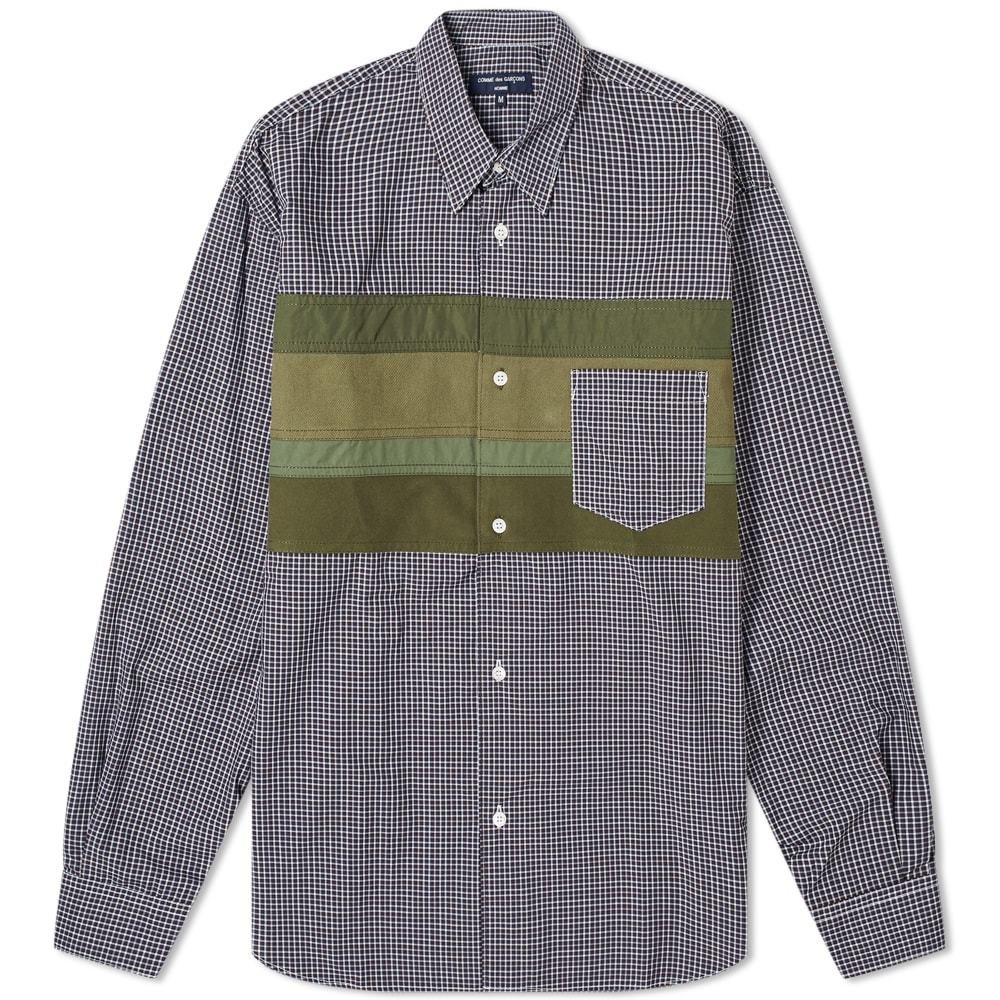 Photo: Comme des Garcons Homme Nylon Panel Striped Shirt