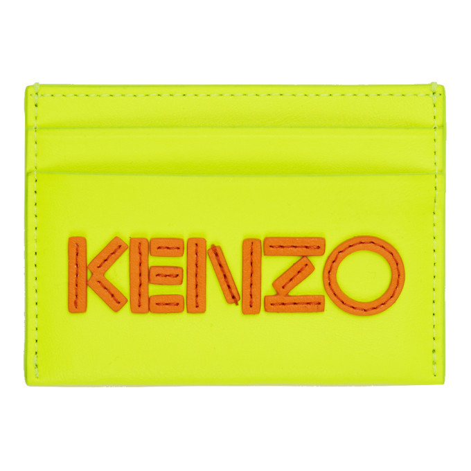 Photo: Kenzo Yellow Logo Card Holder
