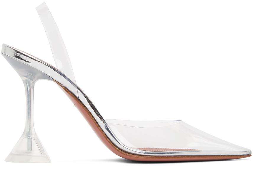 Amina Muaddi Transparent Holli Sling Heels