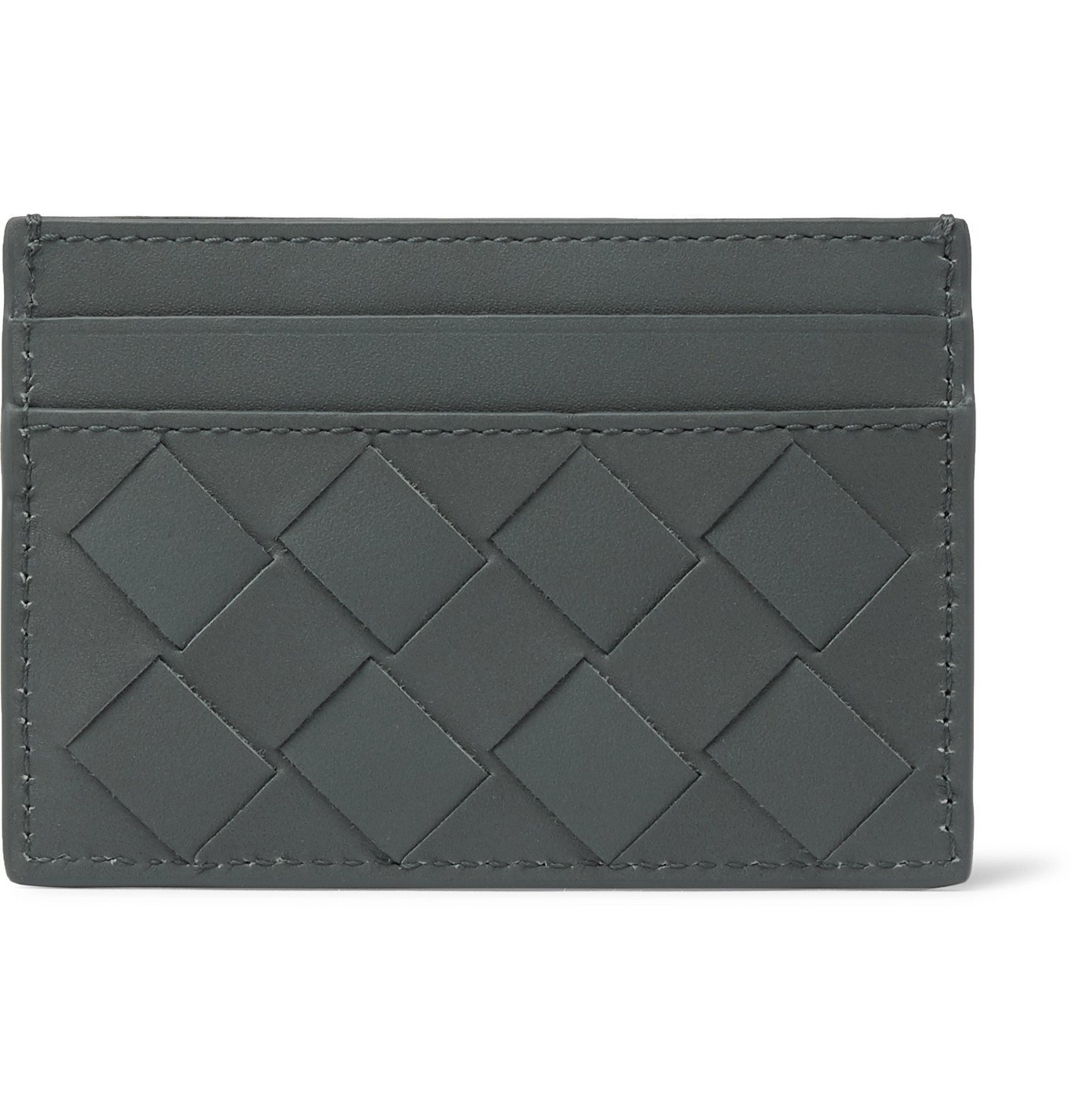Photo: Bottega Veneta - Intrecciato Leather Cardholder - Gray