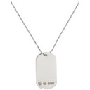 RRL Silver Dog-Tag Necklace