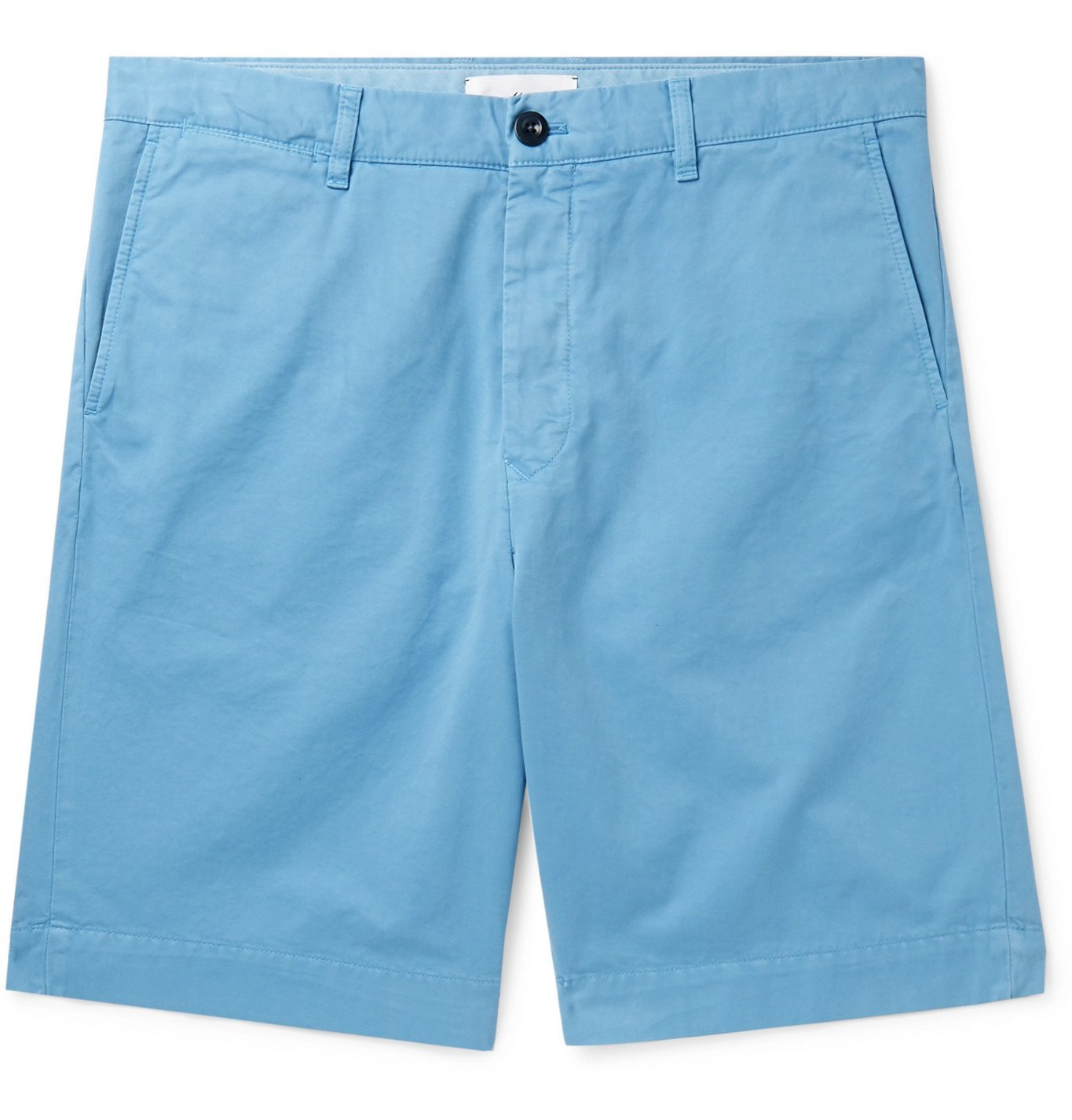 Photo: Mr P. - Garment-Dyed Cotton-Twill Bermuda Shorts - Blue