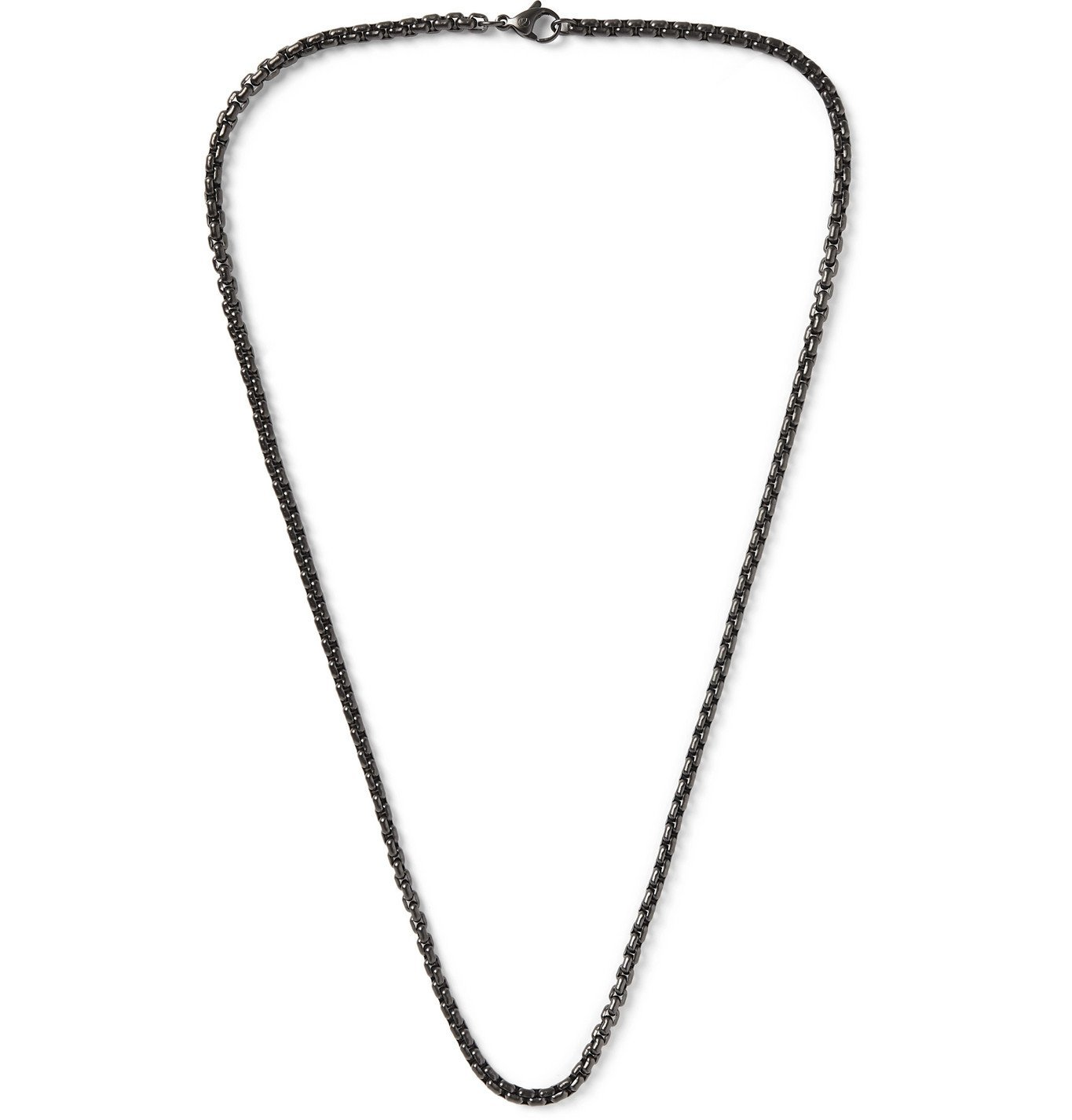 Photo: David Yurman - Blackened Sterling Silver Chain Necklace - Metallic