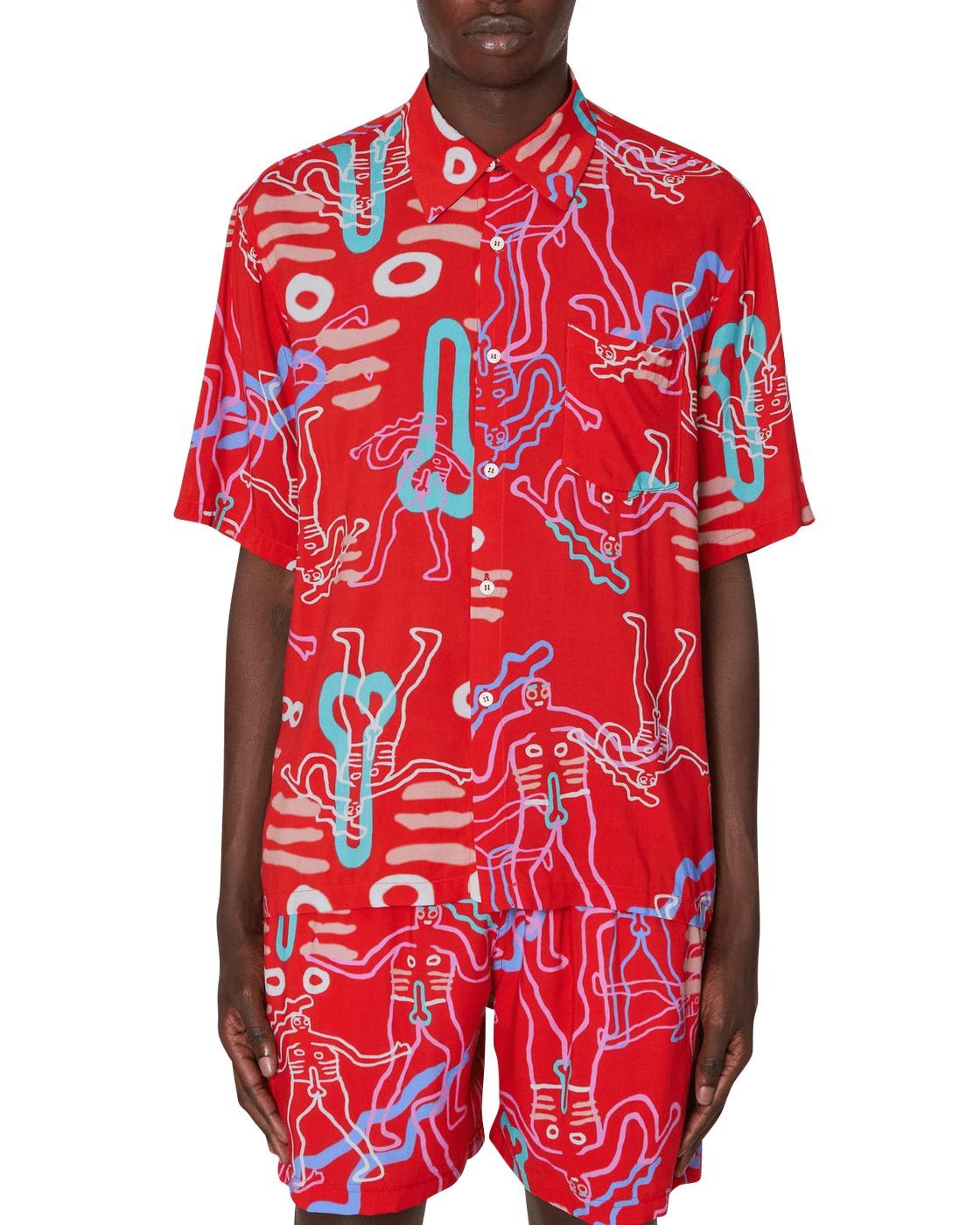Aries Dude Hawaiian Shirt Red