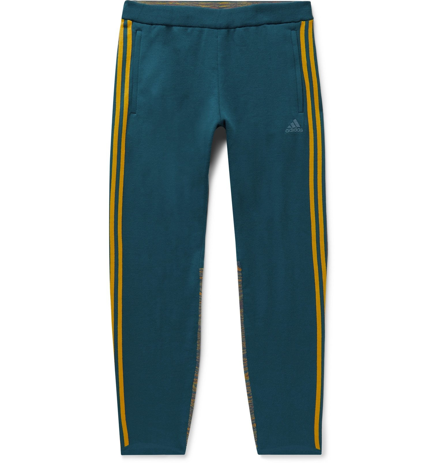 Photo: adidas Consortium - Missoni Tech-Jersey and Space-Dyed Stretch-Knit Sweatpants - Blue