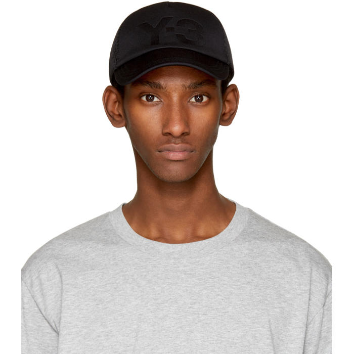Y-3 Black Trucker Cap