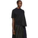 Sacai Black Knit Shirting Sweater