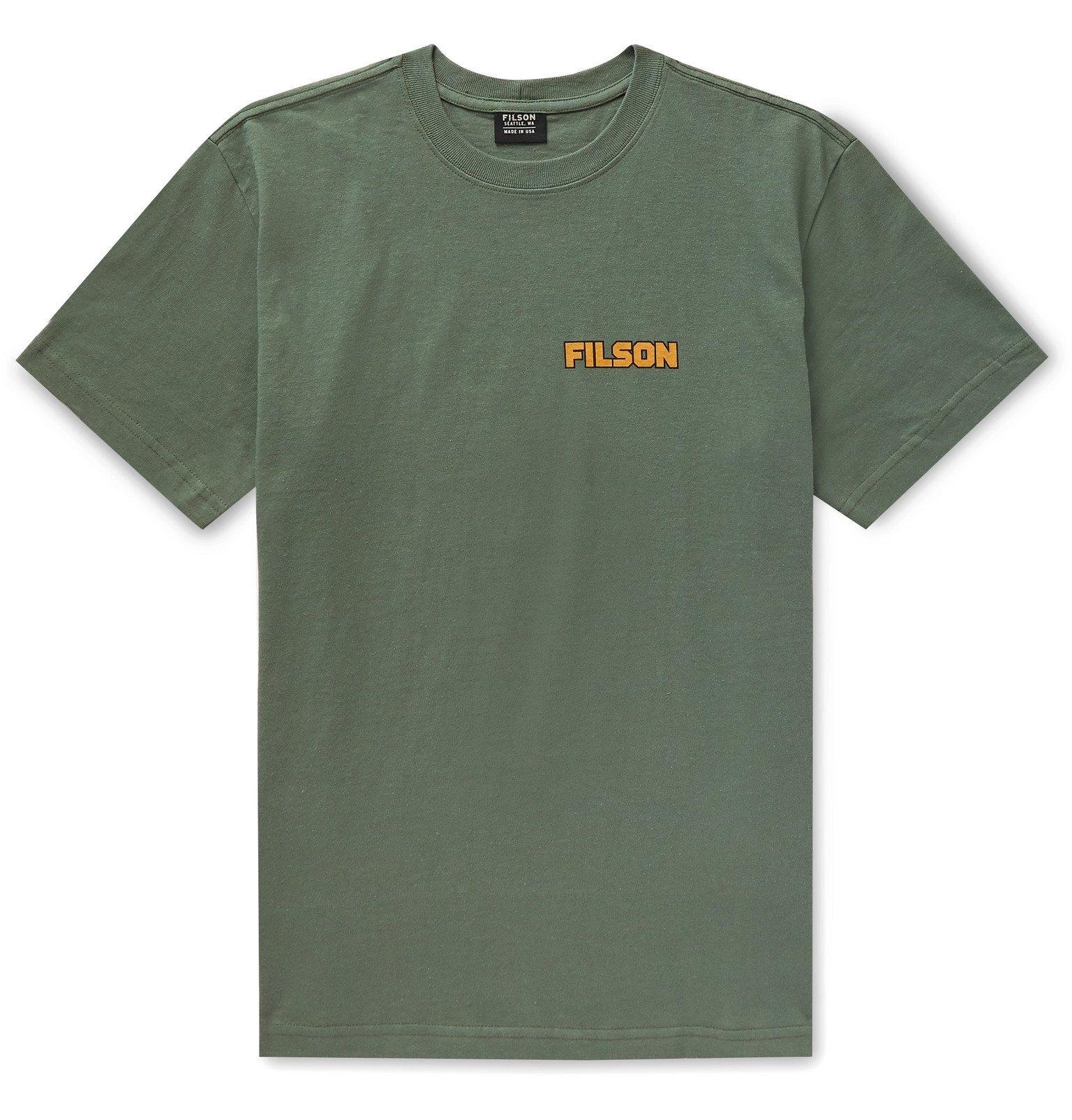 Filson - Outfitter Logo-Print Cotton-Jersey T-Shirt - Green