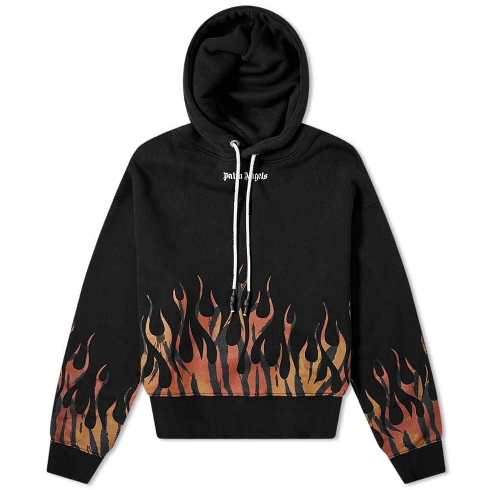 Photo: Palm Angels Tiger Flames Popover Hoody